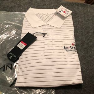 Men's large white 2018 all star game polo NWT